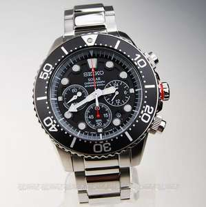 Seiko Solar Chronograph Divers SSC015P1 SSC015P SSC015 Mens Watch  £157.50  @creationwatches.com