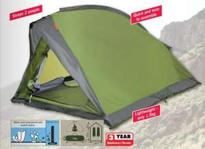 Lidl /  Rocktrail 2 Person Tent, £14.99, Available From 9th April