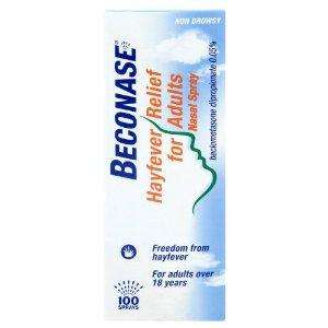 Beconase Hayfever nasal spray 100 doses @ £3.50 from Amazon