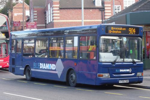 Free Day Ticket W.Mids Blue Diamond Bus