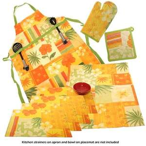 Venilia Kitchen Apron, Tea Towel, Mat, Placemats for £4.99 + £2.95 delivery @ brooklyn trading