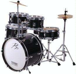 P.P. 5 Piece Junior Drum Kit, Black - £138.99 @ amazon