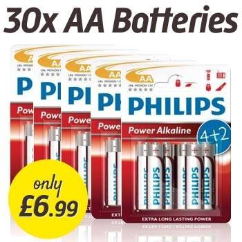 30x AA Philips Powerlife Batteries for £6.99 @ Dealtastic