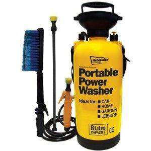 Portable Power Pump Pressure Washer Car / Caravan / Motor Home Brush £14.99 @ Amazon (Motionperformance)