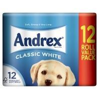 Andrex Toilet Tissue White Rolls 12 roll pack only £4.00 @ Asda