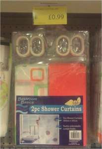 Shower Curtains 2-pack 99p @ Family Bargains (Part of 99p stores)