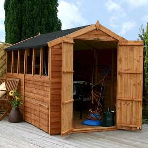 10'3 x 6' Windsor Overlap DD Apex Shed £256.95 delivered @shedstore