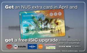 NUS Extra card for £5.99 with website glitch
