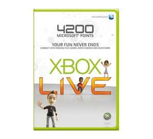 Microsoft Store - Xbox Live 4200 MS Points - £26.24 delivered (with code)