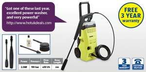 Aldi 2.2kW Pressure Washer 3 years Guarantee £89.99