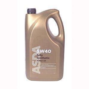 5W40 Fully Synthetic Oil - 5L  ACEA  A3/B3 £20.00 @ ASDA