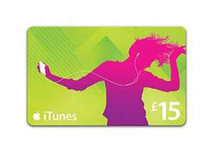 £15 iTunes gift card for £12 instore at Currys/PC World