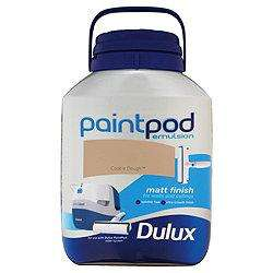 Dulux Paint Pod Matt Cookie Dough 5L-Was £32.97- Now £7 @ Tesco Direct