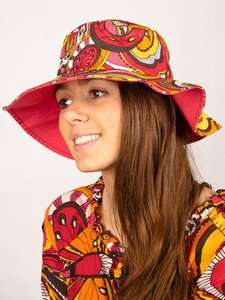 Surfanic Ladies Rainbow Paisley Wide Brim Hat Was £10 NOW £2.99