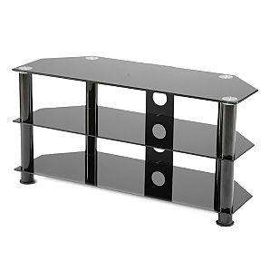Troy Valiant Glass TV Stand with Cable Tidy up to 42ins TV  NOW only £41.25 @ ASDA  Free Collection after 4 days