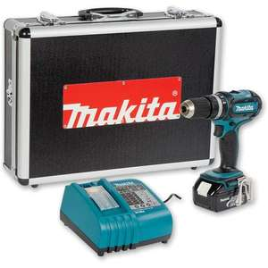 Makita BHP452RF Cordless Combi Drill Li-Ion 18V(drill, battery, charger and case) £139.96@axminster