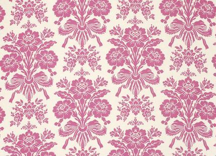 LAURA ASHLEY Tatton Cotton/Linen fabric cerise £8 per m