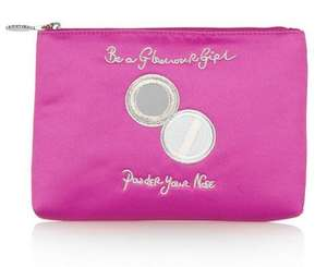 60% off Lulu Guinness pink embroided pouch £22 + delivery @ The Outnet