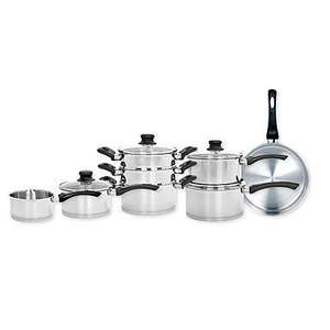 Ethos Stainless 8 piece saucepan set £150 down to £45/£40 with code @ Debenhams