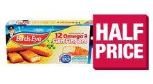 Birds Eye 12 Omega 3 fish fingers was £2.48 now £1.24 @ Co-op and Tesco