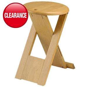Folding Rubberwood Stool- was £8 - now £4.99 @ Asda