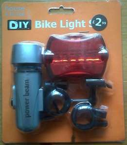 Bike light set reduced from £2.99 to £1.49 instore @ Poundstretcher