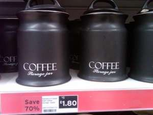 Sainsbury's Ceramic Coffee Storage Jar. Was £6 Now £1.80