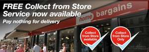 FREE Collect from Store Service Now Available at Home Bargains