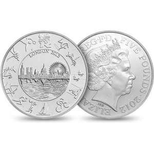 £5 Olympic coin legal tender for £5 free postage from the royal mint