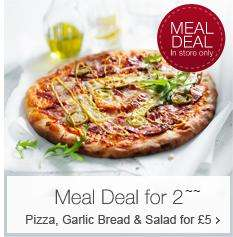 £5 – M&S Pizza Meal Deal For 2 - Fresh Large Pizza, Big Bag of Salad & a Garlic Bread