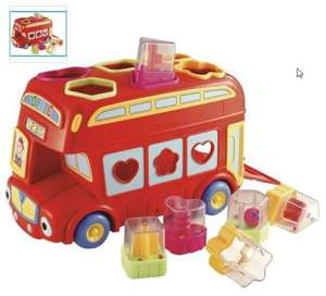 Early Learning Centre Shape Sorting Bus Toy Half price @ argos - £7.99