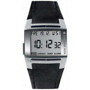 Junghans Mega 1000 positive display digital watch steel/leather @ Amazon for £222.35