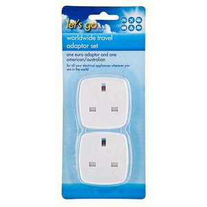 2 Pack Travel Adapter =- £1 @ PoundLand