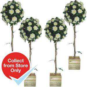Artificial Rose Tree 4FT Case Of 4 £59.96 at Home Bargains