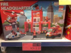 Build-It Fire or Police Station Headquarters Building Bricks Set (Like Lego) Was £14.99 Now £9.99 @ B&M Bargains