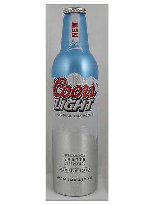 Coors Light 450ml Aluminum Bottle, 79p each @ B&M Bargains
