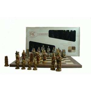 Hand Decorated Battle of Hasting Chess Men in Box with Folding Board - Was £229.95, now £87.16 delivered @ Amazon/celador_books