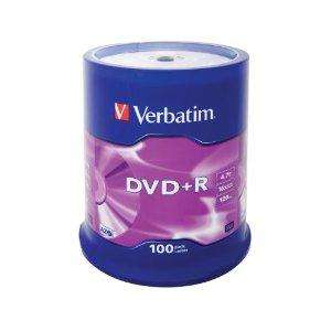 Verbatim 100pk DVDR+ or DVDR- was  £18.50 now £9.25 @ ASDA instore only