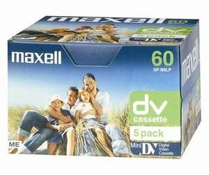 Maxell DV Mini 60 5pk was £10 now £5 @ ASDA instore only