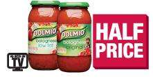 Dolmio sauce for bolognese 500g  99p half price @ the co-operative