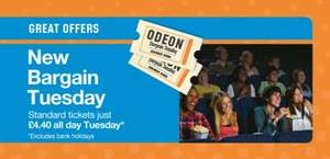 ODEON Tuesday £4.40 bargain prices (Silverlink Wallsend) !!!