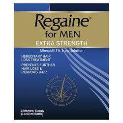 Regaine for Men Extra Strength 3x60ml (3 Months Supply) @ Lloyds Pharmacy Online
