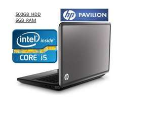 HP Pavilion G6 Laptop, Intel Core i5, 6GB RAM, 500GB HDD, ONLY £399.97 @Save-on-laptops (on ebay)