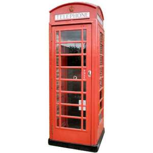 Refurbished Original BT Red Phone Box (K6) only £2340 ! @ x2connect