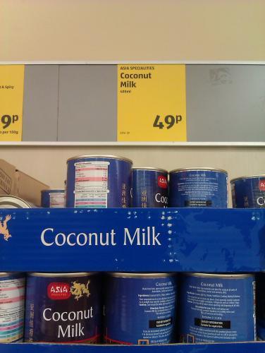 Coconut Milk - 49p ALDI
