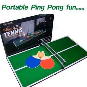 Portable Tabletop Table Tennis for £6.99 @ MenKind