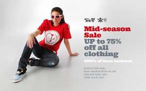 Save up to 75% on clothing in the Spring Mid Season Sale @ Chemical Records