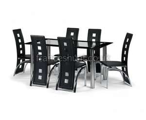 Brescia Glass Dining Table +  4 Chairs  for £305.10 Delivered @ Frances Hunt