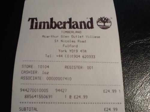 Timberland Tipton Navy Hardshell bomber Jacket £24.99 (RRP £150) @ McArthur Glen York