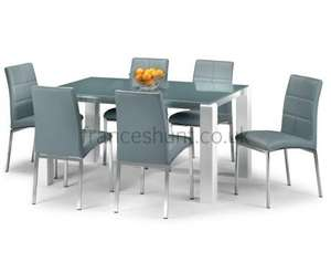 Capaci Glass Dining Table + 4 Chairs  for £263.97 @ Frances Hunt